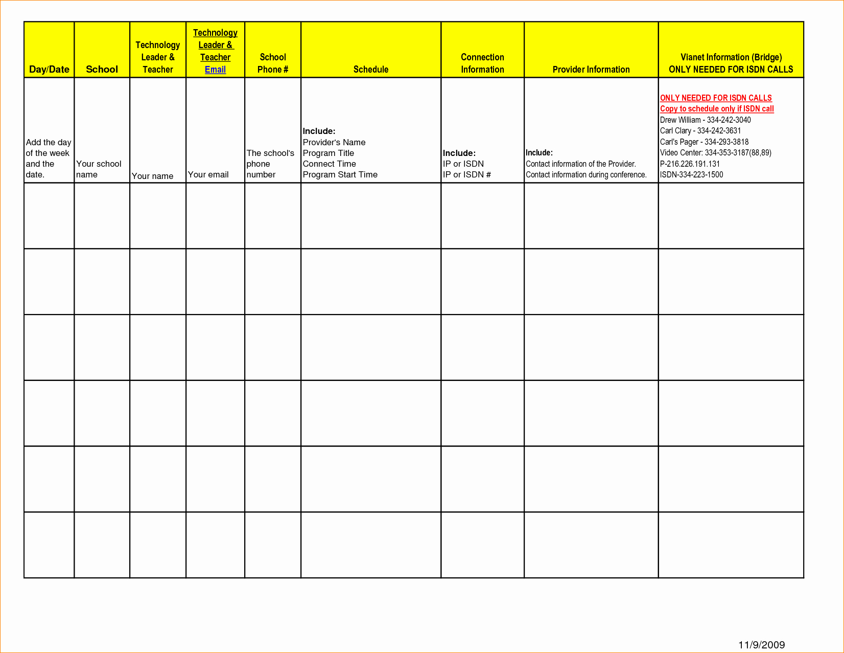 One Day Schedule Template Fresh Weekly Schedule Template Monday Friday