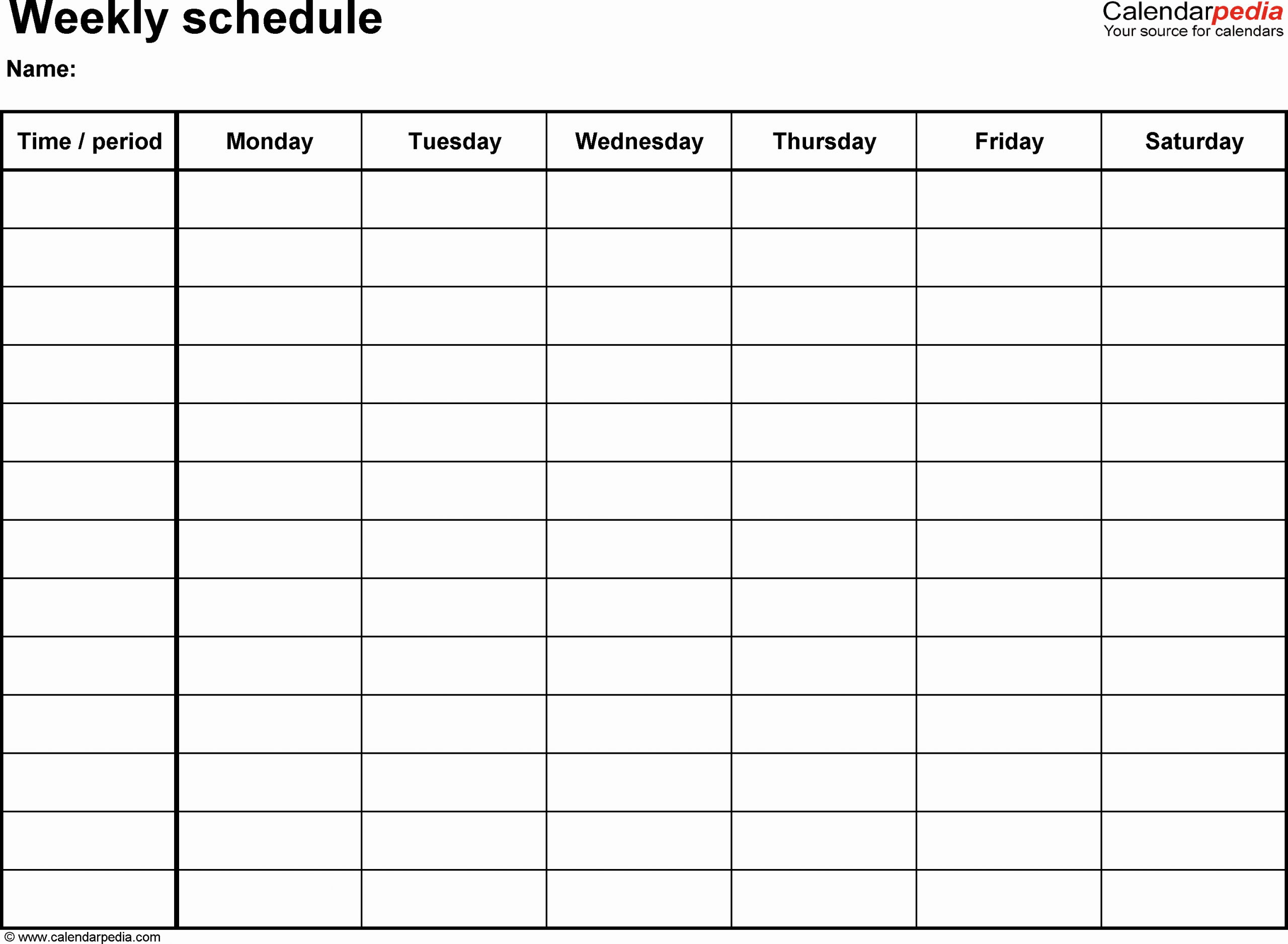 One Day Schedule Template New Free Weekly Schedule Templates for Excel 18 Templates