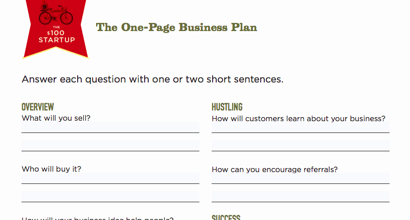 Pages Business Plan Template Awesome How to Write A E Page Business Plan Templates Ideas