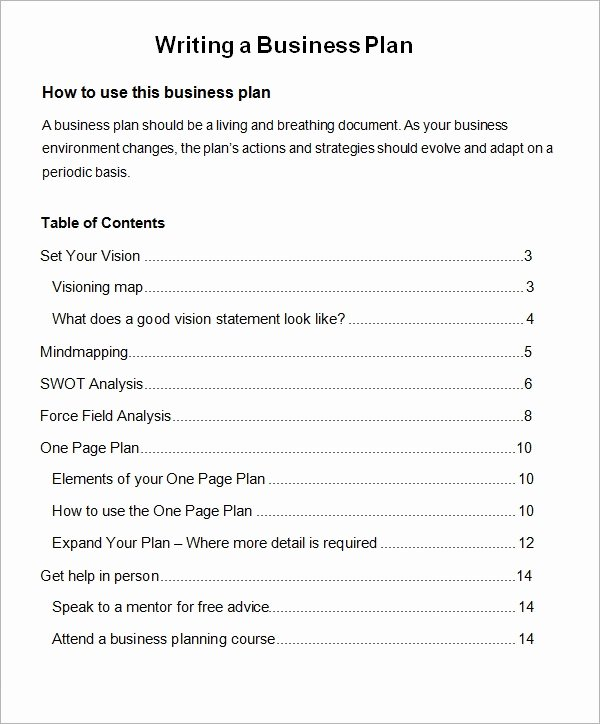 Pages Business Plan Template Lovely Free 32 Sample Business Plans and Templates In Google