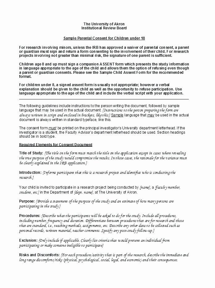 Parental Consent form Template Travel Best Of Parent Release form Template – Meltfm