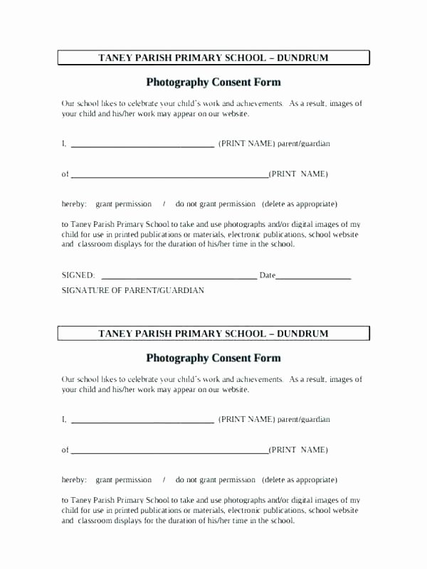 Parental Consent form Template Travel Inspirational School Trip Consent form – Johnnybelectric