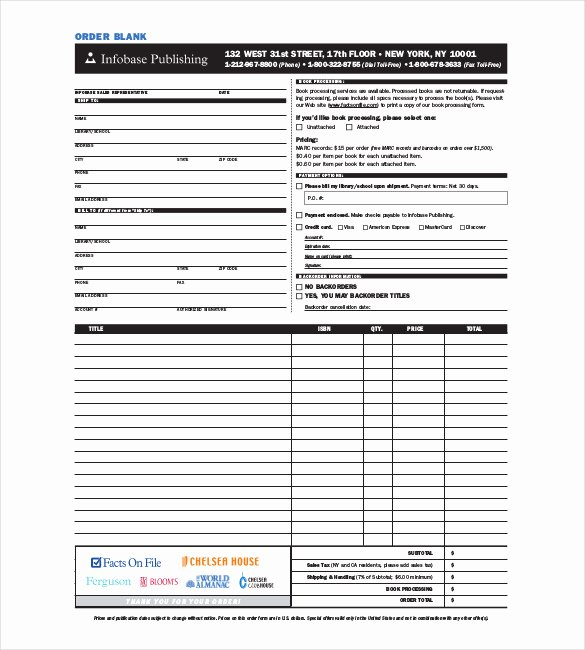 Part order form Template Elegant 43 Blank order form Templates Pdf Doc Excel