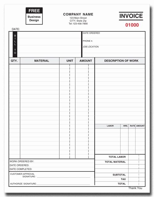 Part order form Template Unique Invoice form 751 2 Part or 3 Part Products by Industry