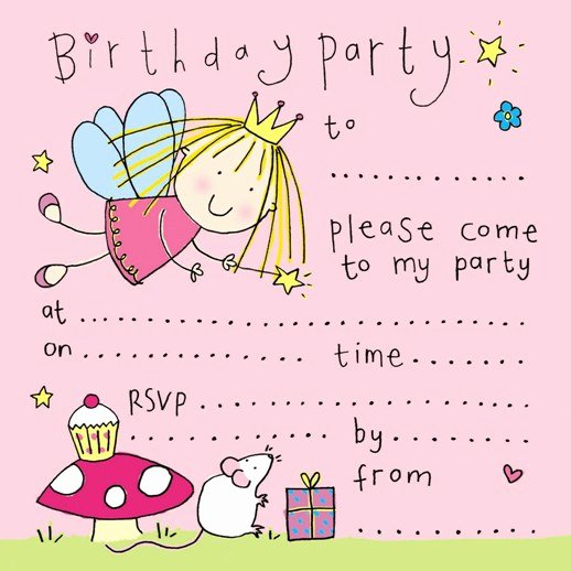 free printablefairy birthday party