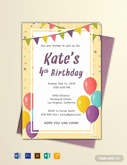 Party Invitation Template Free Beautiful 44 Free Birthday Invitation Templates Word