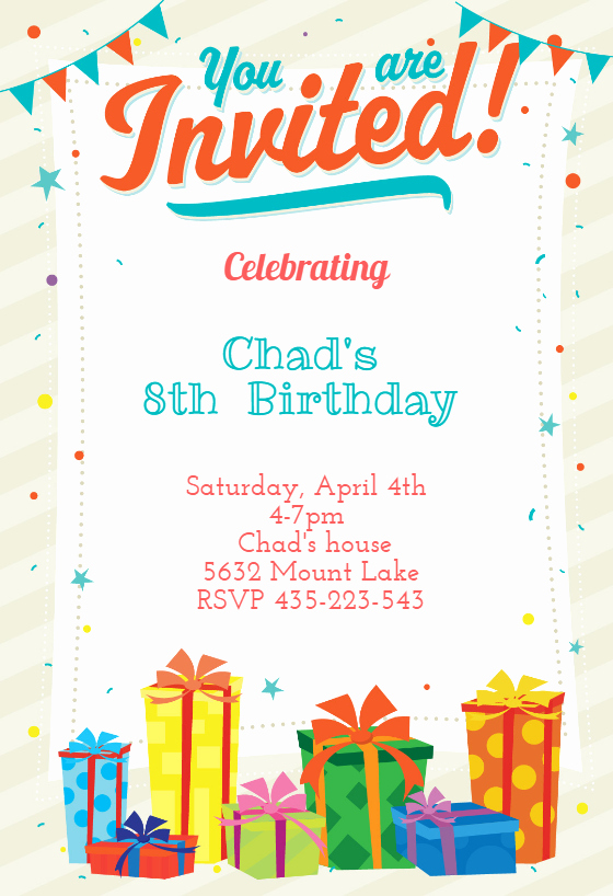 Party Invitation Template Free Beautiful You are Invited Birthday Invitation Template Free