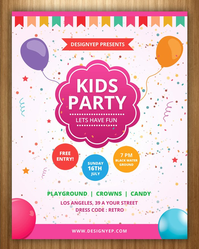 Party Invitation Template Free Elegant 17 Free Birthday Invitation Templates Psd Designyep