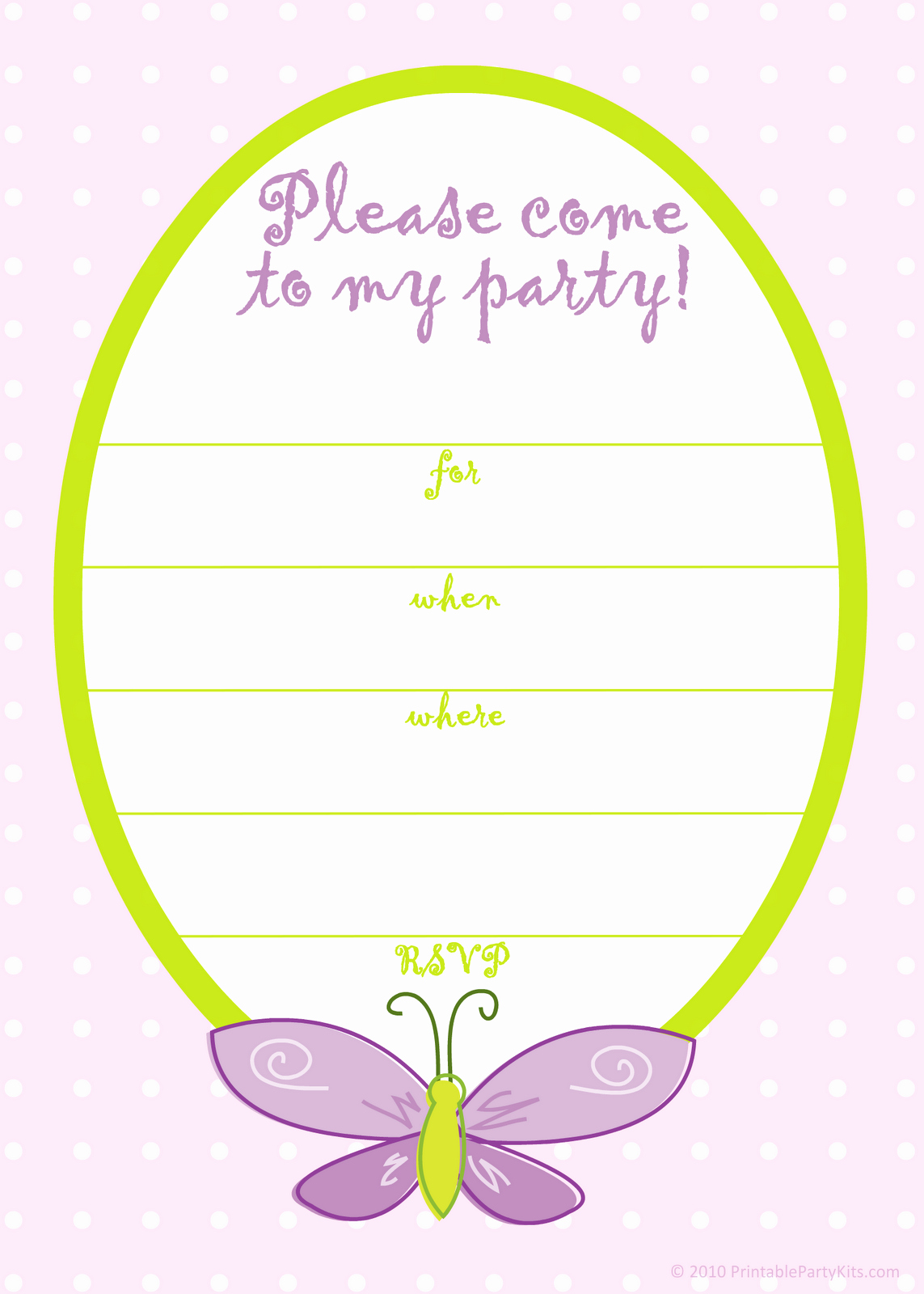 Party Invitation Template Free Fresh Free Printable Party Invitations Free Pink butterfly