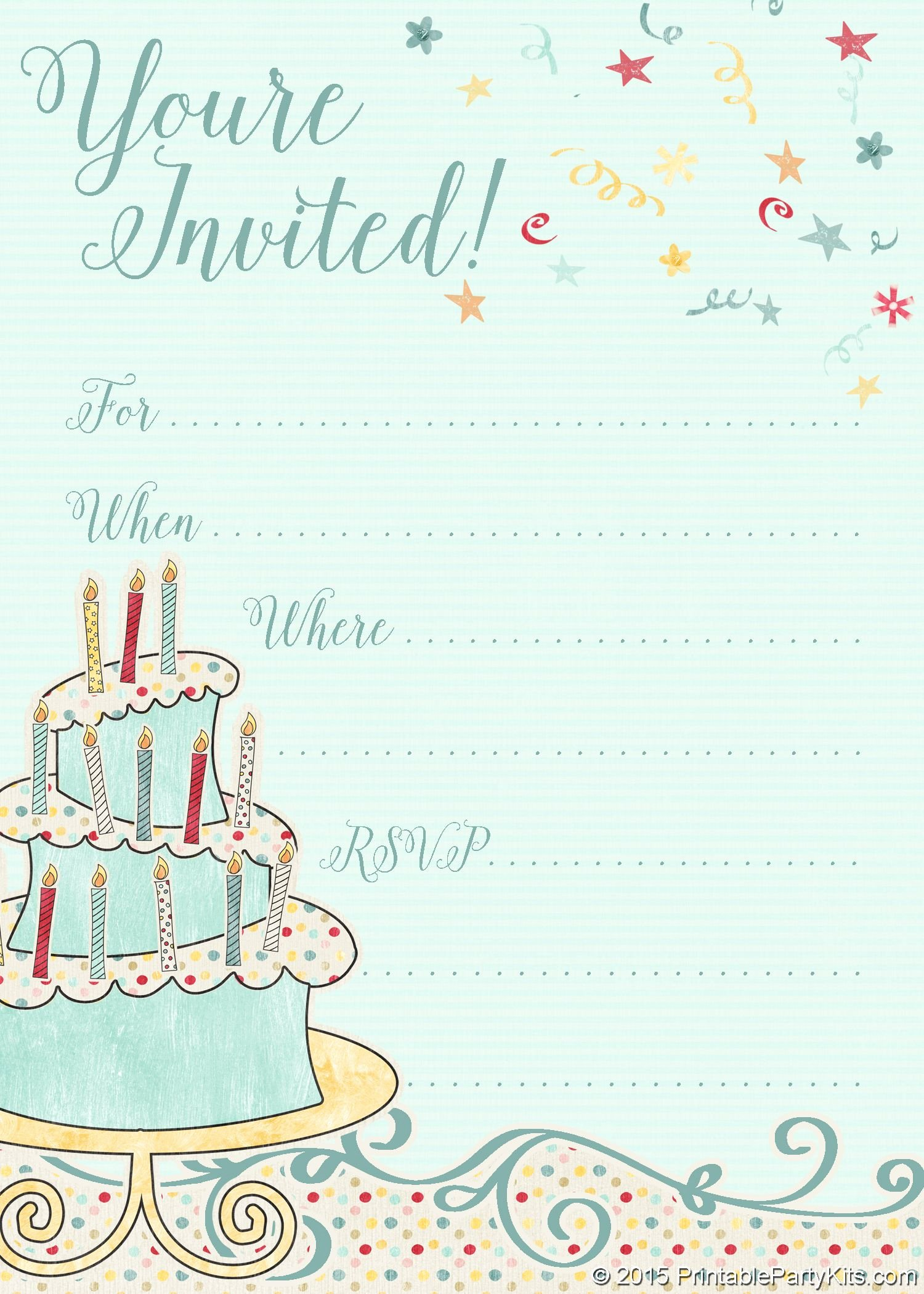 Party Invitation Template Free Luxury Free Printable Whimsical Birthday Party Invitation