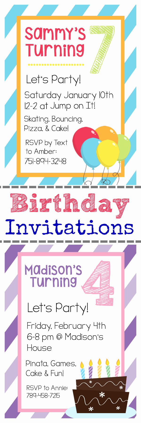 Party Invitation Template Printable Elegant Free Printable Birthday Invitation Templates