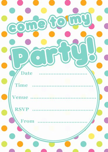 Party Invitation Template Printable Luxury Free Printable Polka Dot Party Invitations Template