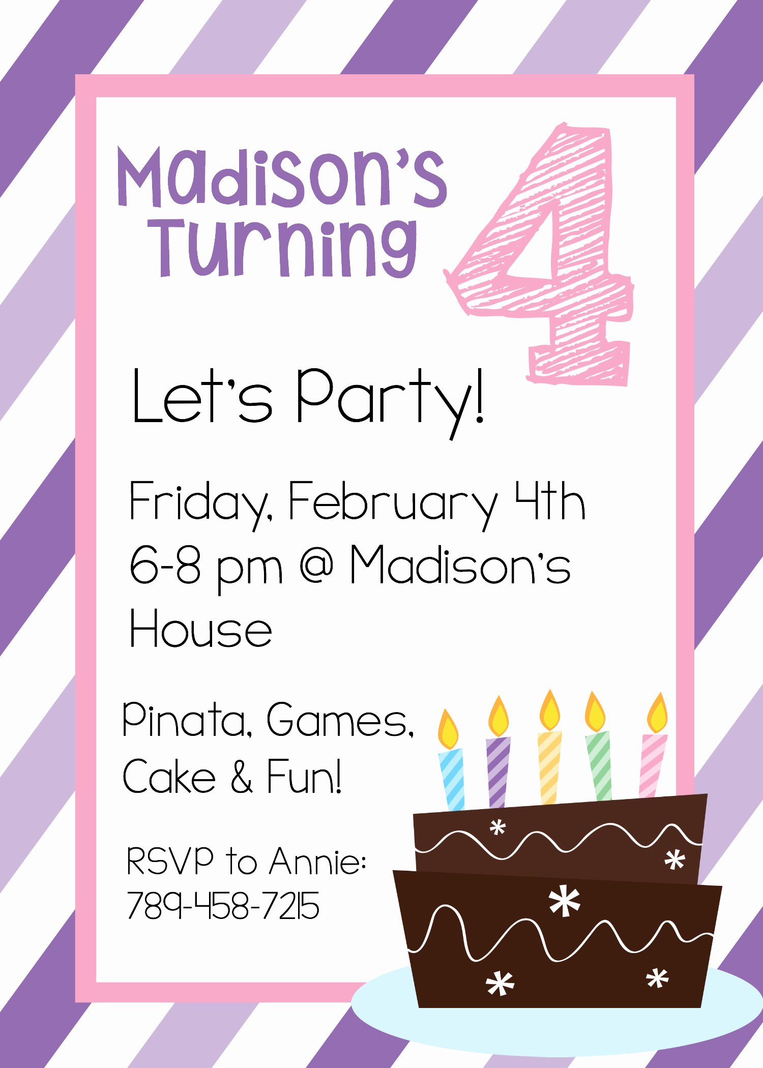 Party Invitation Template Printable New Free Printable Birthday Invitation Templates