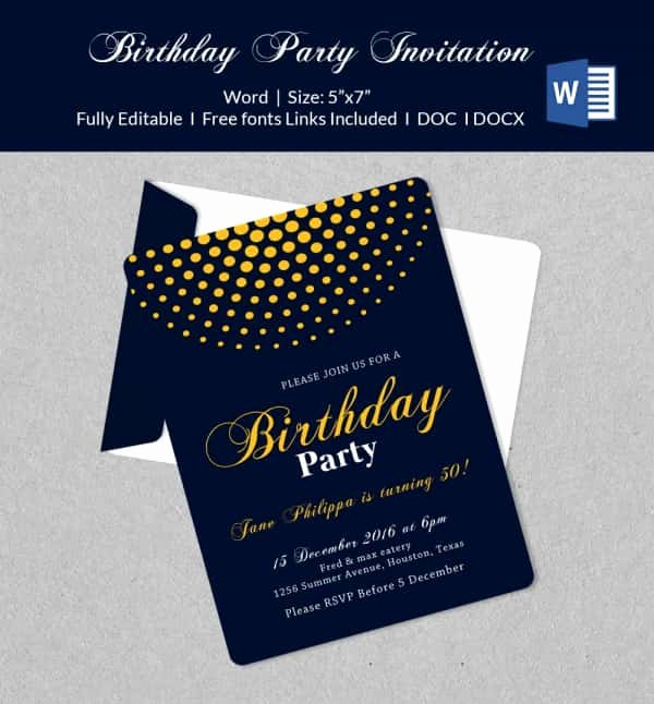 Party Invitations Template Word Luxury 50 Microsoft Invitation Templates Free Samples