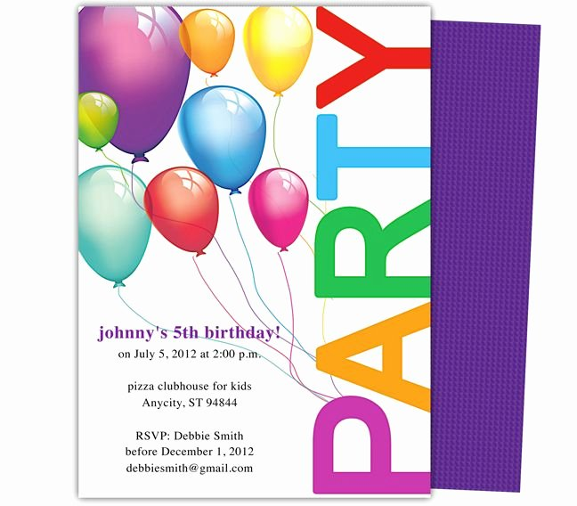 Party Invitations Template Word Luxury Happy Birthday Invitation Templates My Birthday