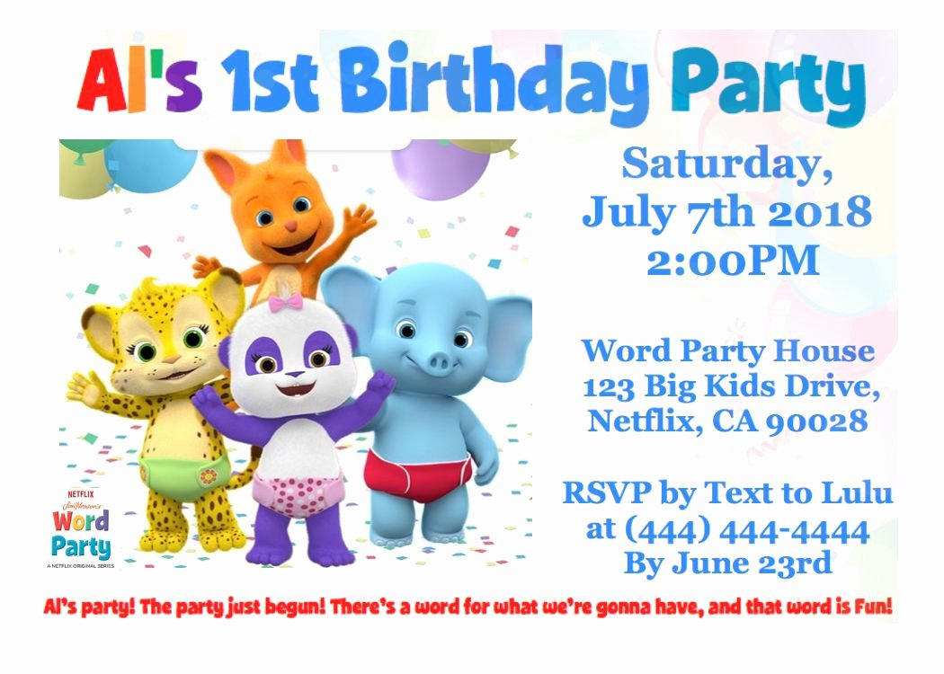Party Invitations Template Word Luxury Word Party Netflix Birthday Invitation