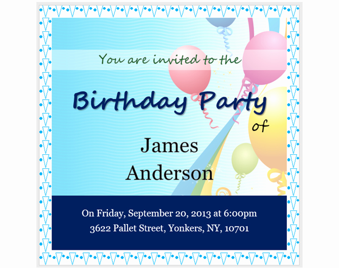 Party Invitations Template Word New 13 Free Templates for Creating event Invitations In