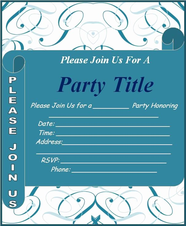 Party Invitations Template Word Unique Invitation Templates