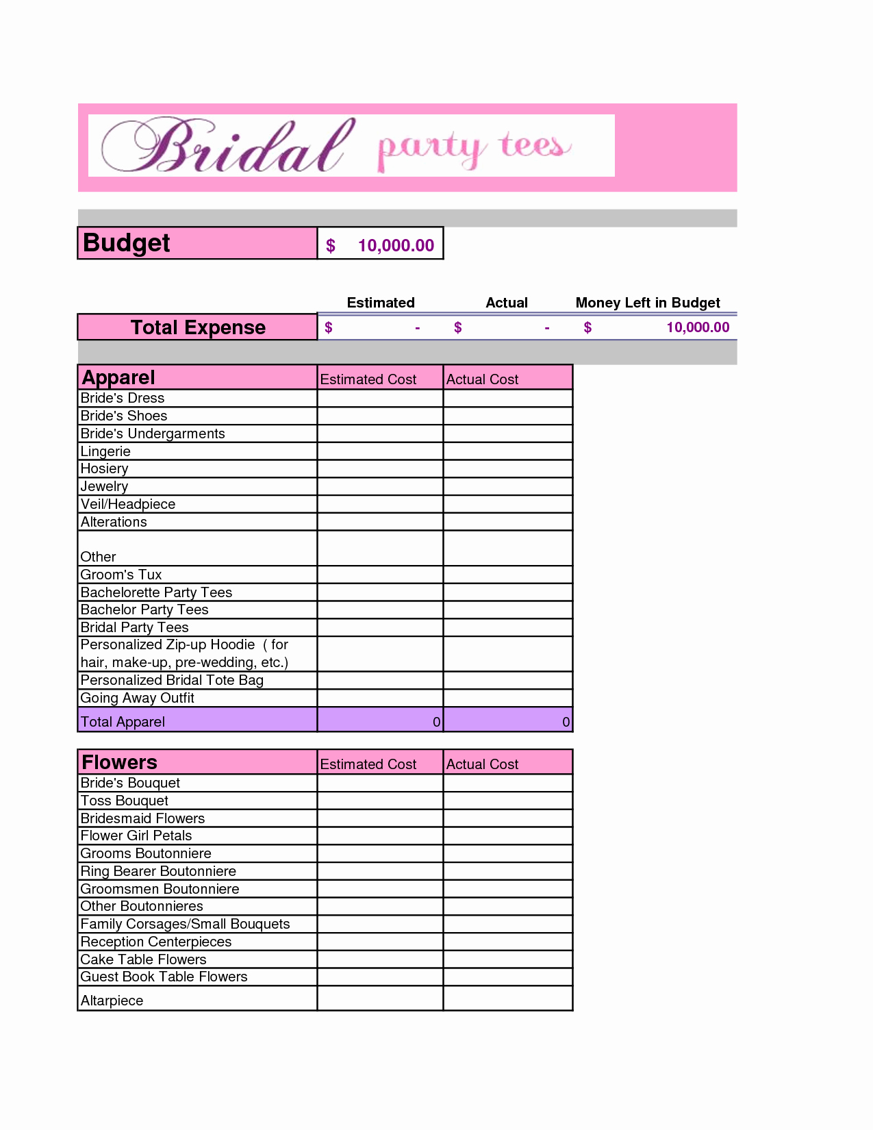 Party Planning Budget Template Awesome 10 Easy Steps to Plan the Perfect Bachelorette Party