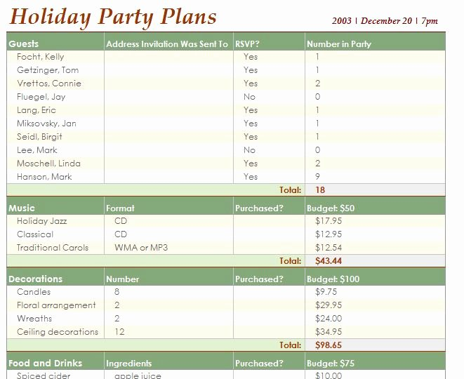 Party Planning Budget Template Best Of event Planning Template