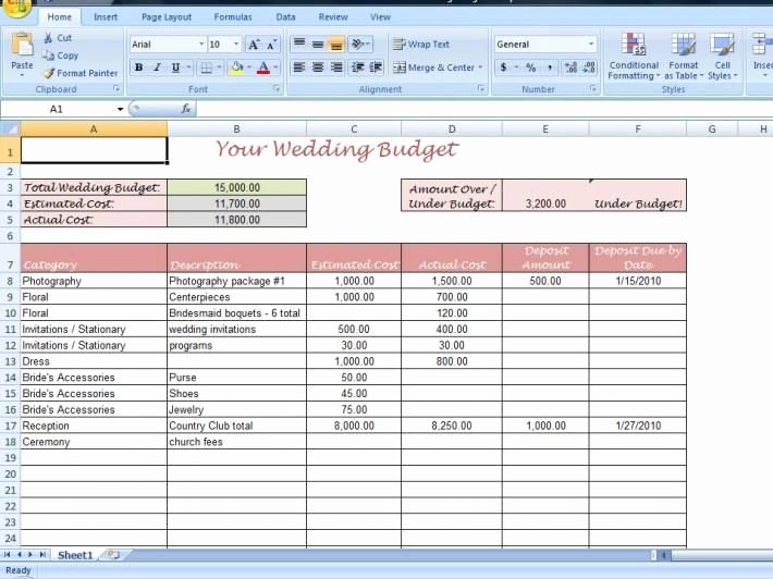 Party Planning Budget Template Fresh Wedding Bud Spreadsheet Template Driverlayer Search