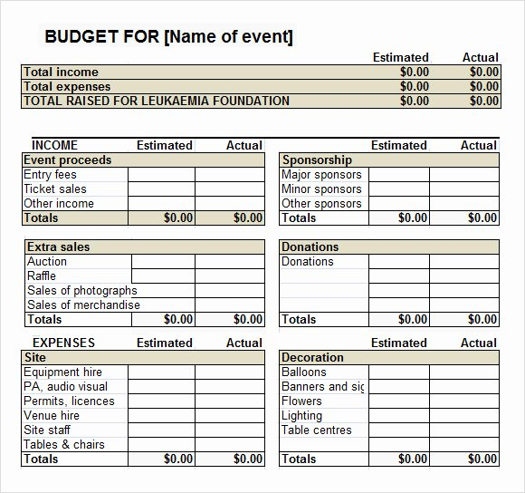 Party Planning Budget Template Unique 13 event Bud Templates In Google Docs