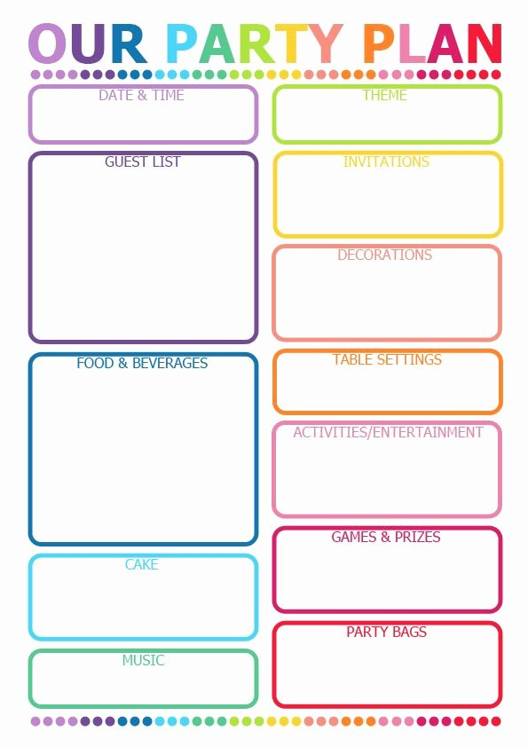 Party Planning List Template Lovely How to Plan A Party Printable Planner