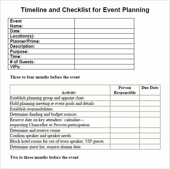 Party Planning List Template Luxury Free 16 Sample event Planning Checklist Templates In