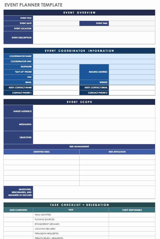 Party Planning List Template Unique 21 Free event Planning Templates