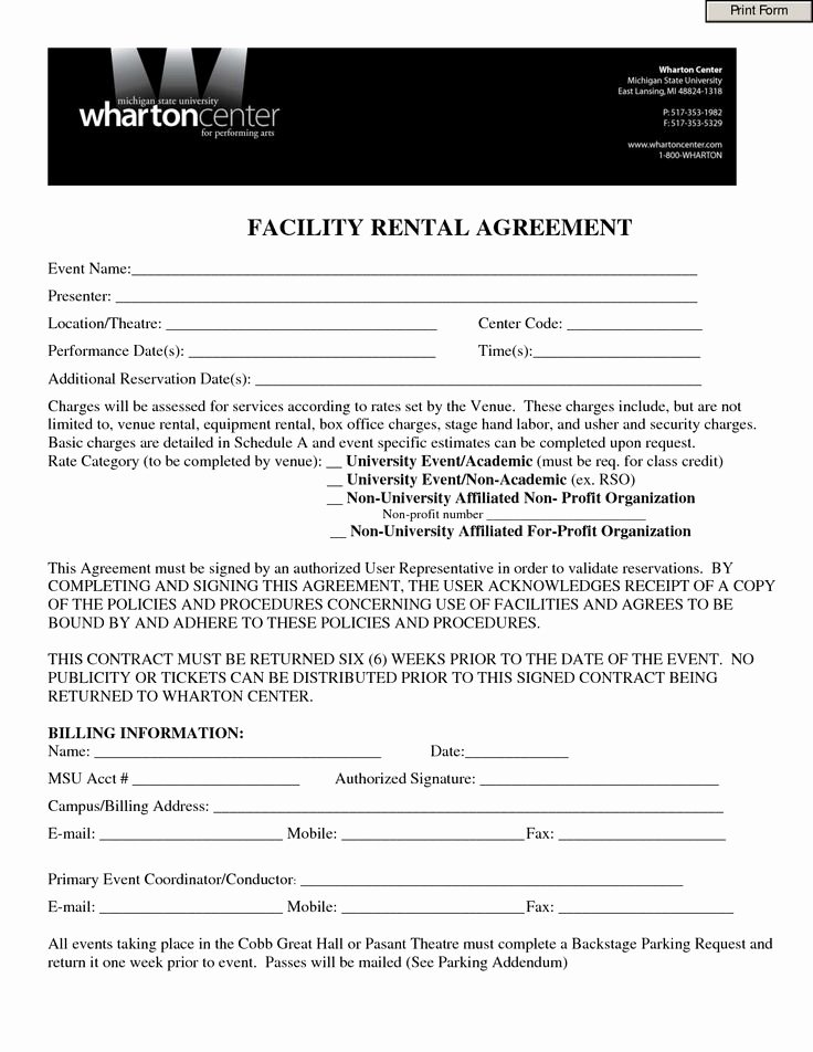 Party Rental Agreement Template Beautiful event Contract Template Invitation Templates Facility