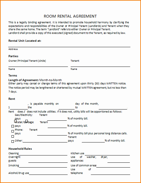 Party Rental Agreement Template Best Of 6 Sample Room Rental Agreement