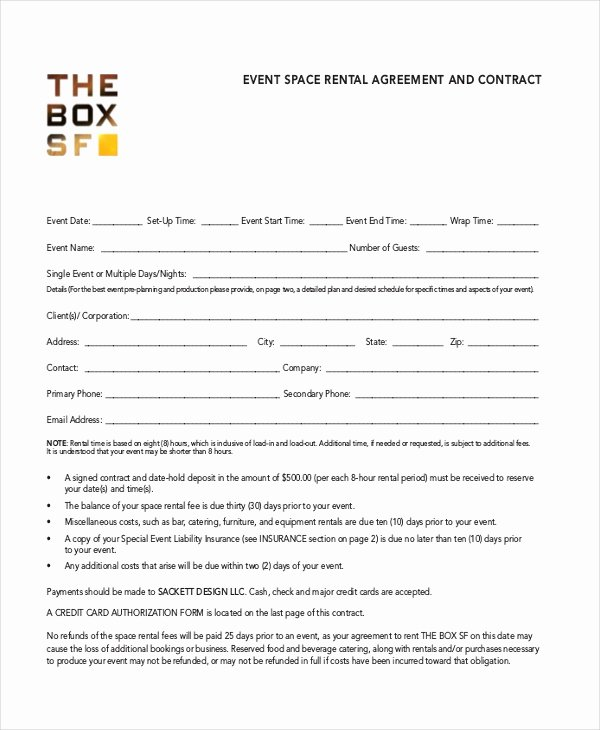Party Rental Agreement Template Fresh Room Rental Agreement Template 12 Free Word Pdf Free