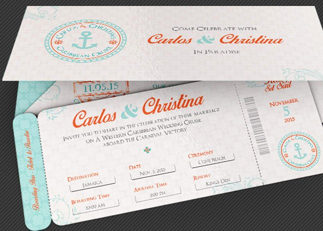 Passport Invitation Template Photoshop Awesome Wedding Cruise Boarding Pass Invitation Template
