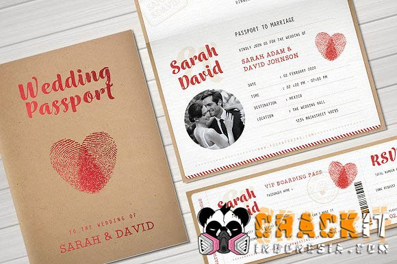 Passport Invitation Template Photoshop Beautiful Vintage Passport Wedding Invitation Crackit Indonesia