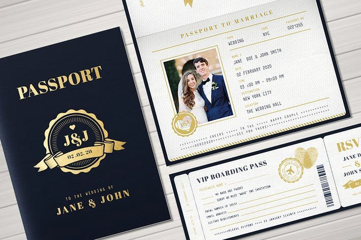 Passport Invitation Template Photoshop Elegant Passport Wedding Invitation by Vynetta On Envato Elements
