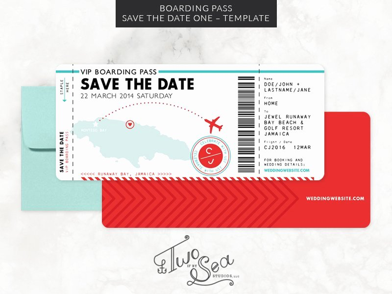 Passport Invitation Template Photoshop Lovely Boarding Pass Save the Date Template Wedding Templates