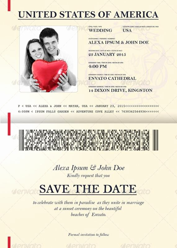 Passport Invitation Template Photoshop New Free Save the Date Templates for Word