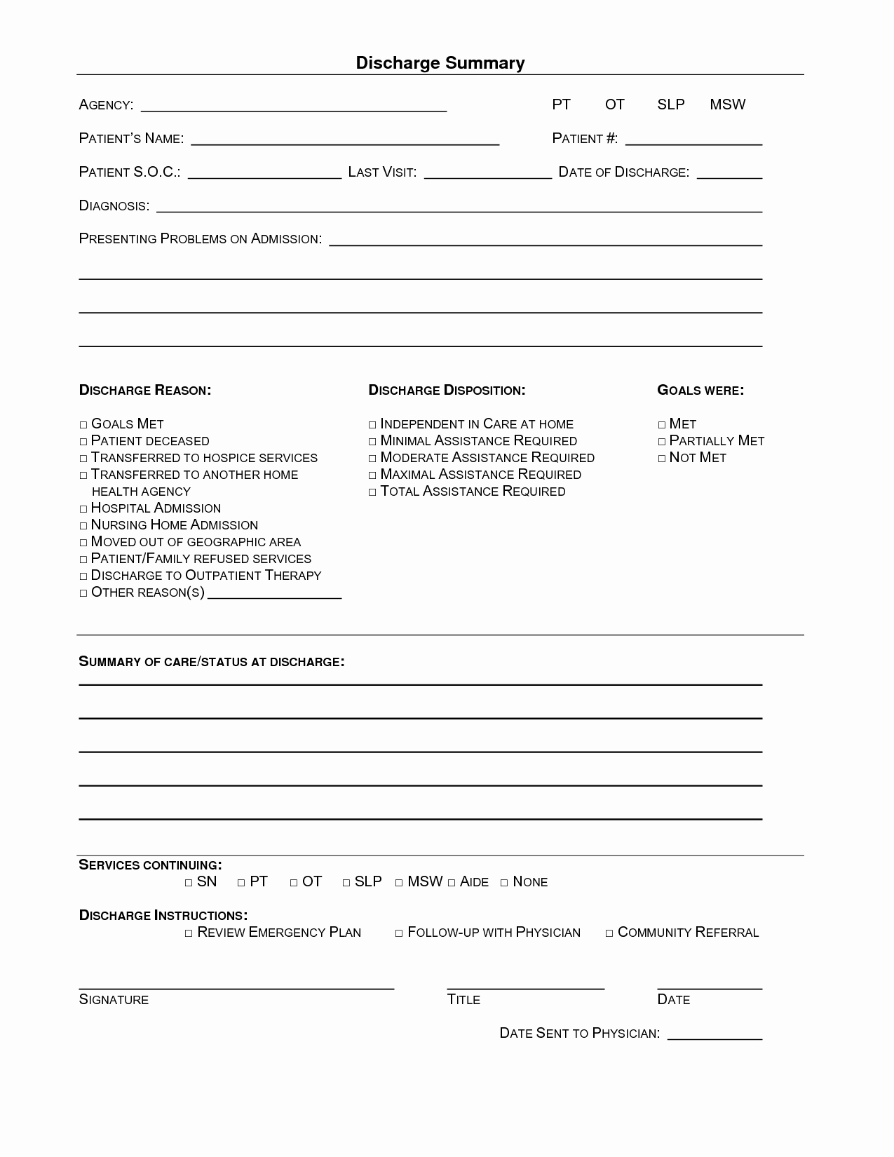 15 images of hospital emergency room discharge template state of ca 5248
