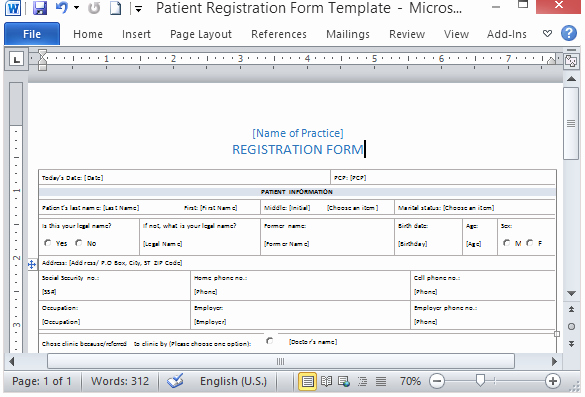 Patient Information Sheet Template Lovely Medical form Templates Microsoft Word