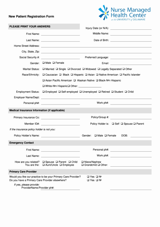 Patient Medical History form Template Best Of Fillable New Patient & Medical History form Page 2 Of 4
