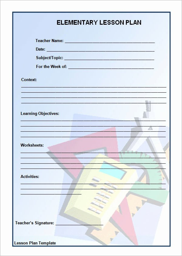 Pe Lesson Plan Template Blank Beautiful 12 Sample Unit Plan Templates to Download for Free
