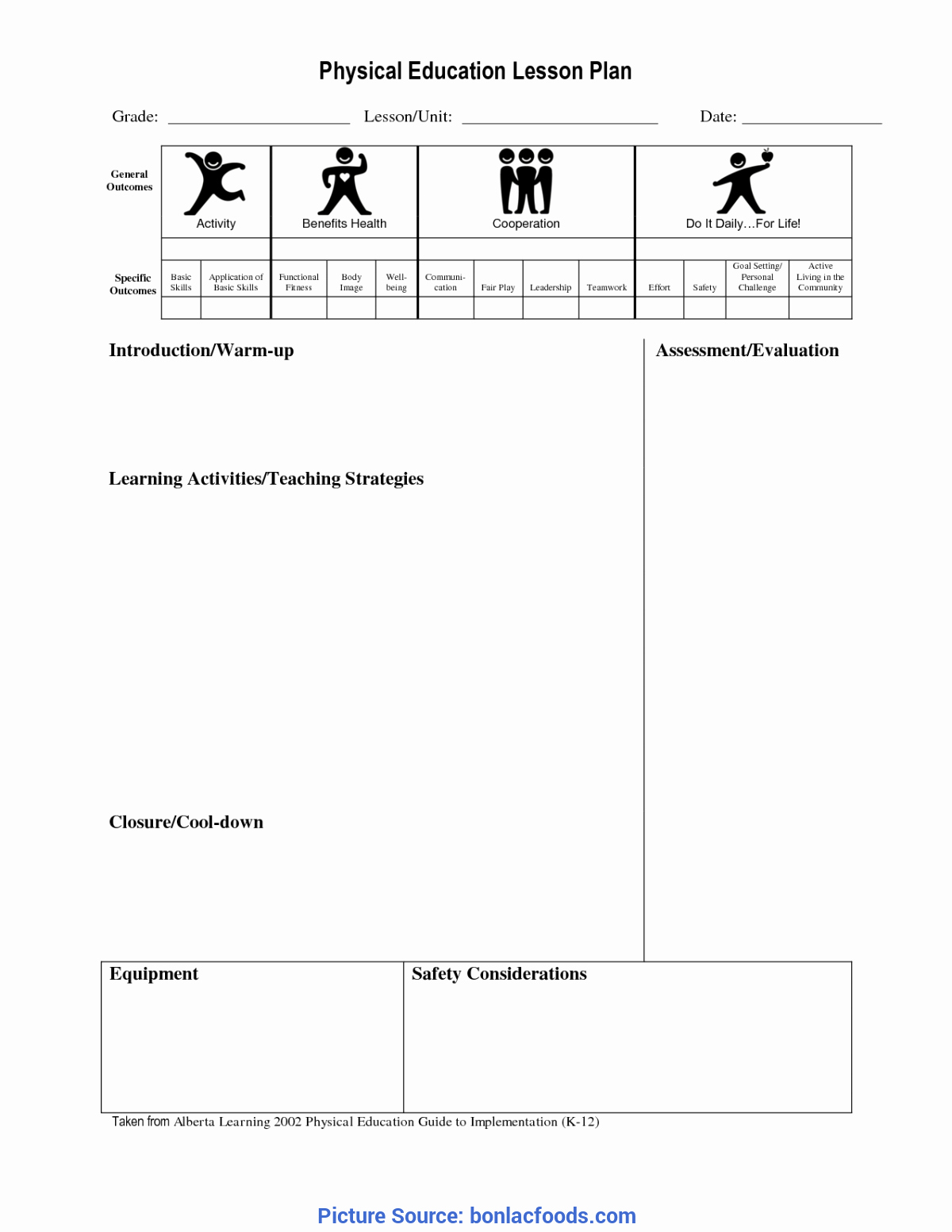 Pe Lesson Plan Template Blank Fresh Good Lesson Plan Science Year 4 Investigation States