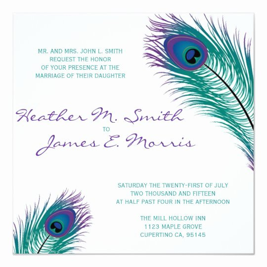 Peacock Invitations Template Free Beautiful the Classy Peacock Wedding Invitation