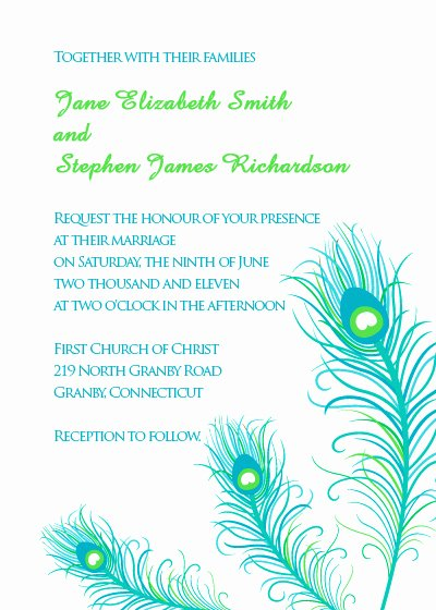 Peacock Invitations Template Free Best Of Peacock Feathers Wedding Invitation ← Wedding Invitation