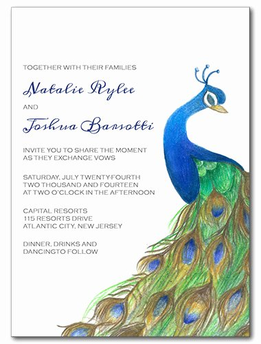 Peacock Invitations Template Free Elegant Wedding Invitations Pretty Peacock Invitation