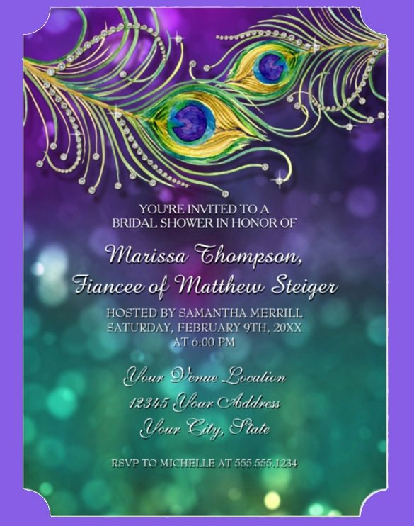Peacock Invitations Template Free New Awesome Free Peacock Wedding Invitation Templates Ideas