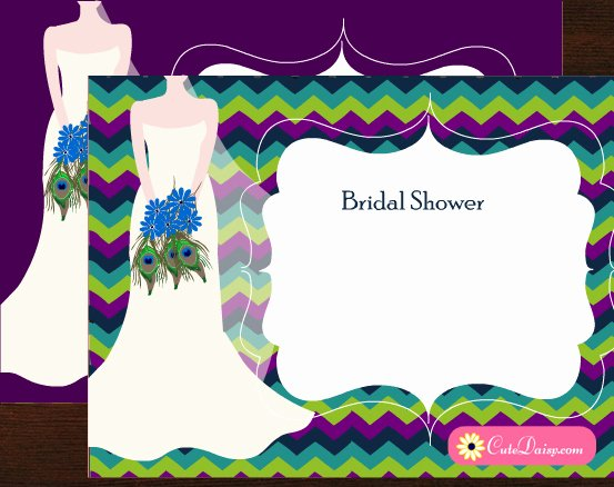 Peacock Invitations Template Free New Free Printable Peacock themed Bridal Shower Invitations