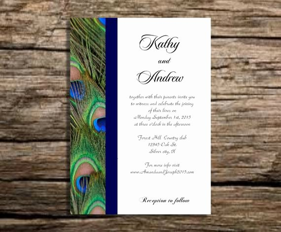 Peacock Invitations Template Free New Peacock Wedding Invitation Template Instant by Partytemplates