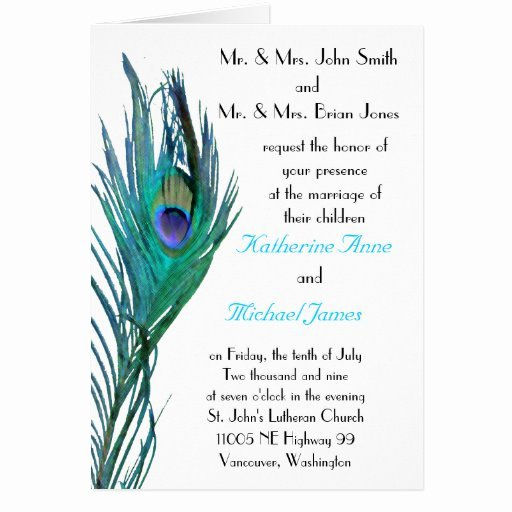 Peacock Invitations Template Free Unique Peacock Wedding Invitation Template