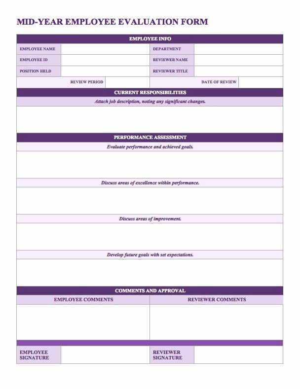 Performance Evaluation Template Word Inspirational 50 Annual Performance Appraisal form Samples [free Download]